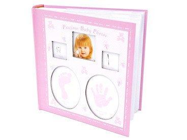 Album Różowy wózek 10 x15 prezent na chrzest z grawerem