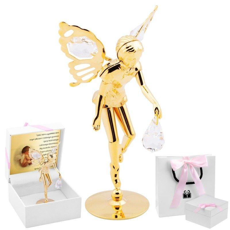 Elf z kryształami Swarovskiego dla Dziewczynki Dedykacja