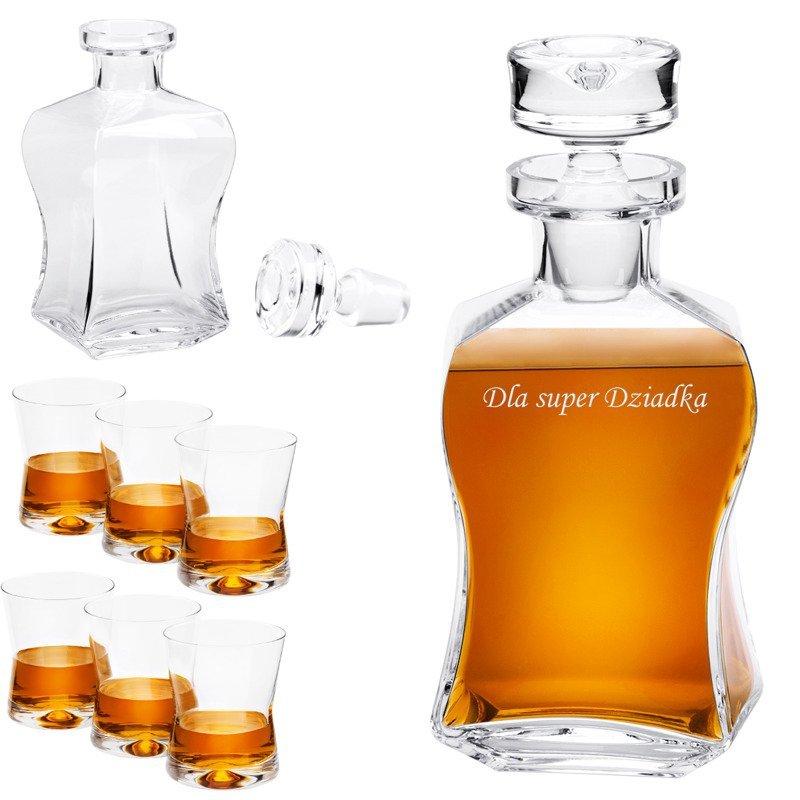 Komplet do whisky 7-częściowy Karafka i szklanki Prezent z Grawerem