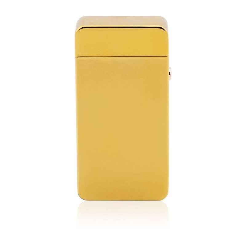 Matowa zapalniczka plazmowa złota Prezent z Grawerem