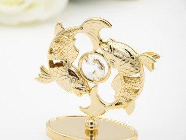 Ryby zodiak figurka z kryształami Swarovski Grawer prezent