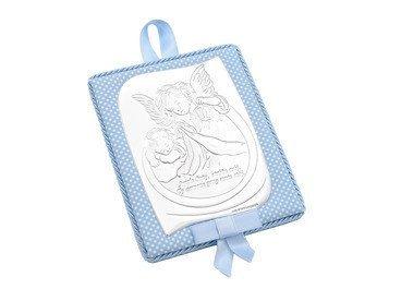 Srebrny Medalion Anioł Modlitwa Dedykacja