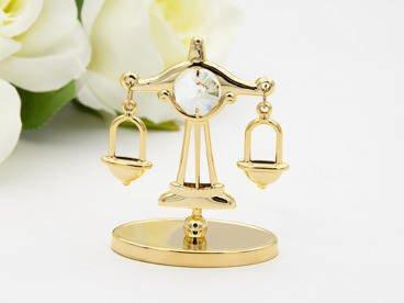 Waga zodiak figurka z kryształami Swarovski GRAWER prezent