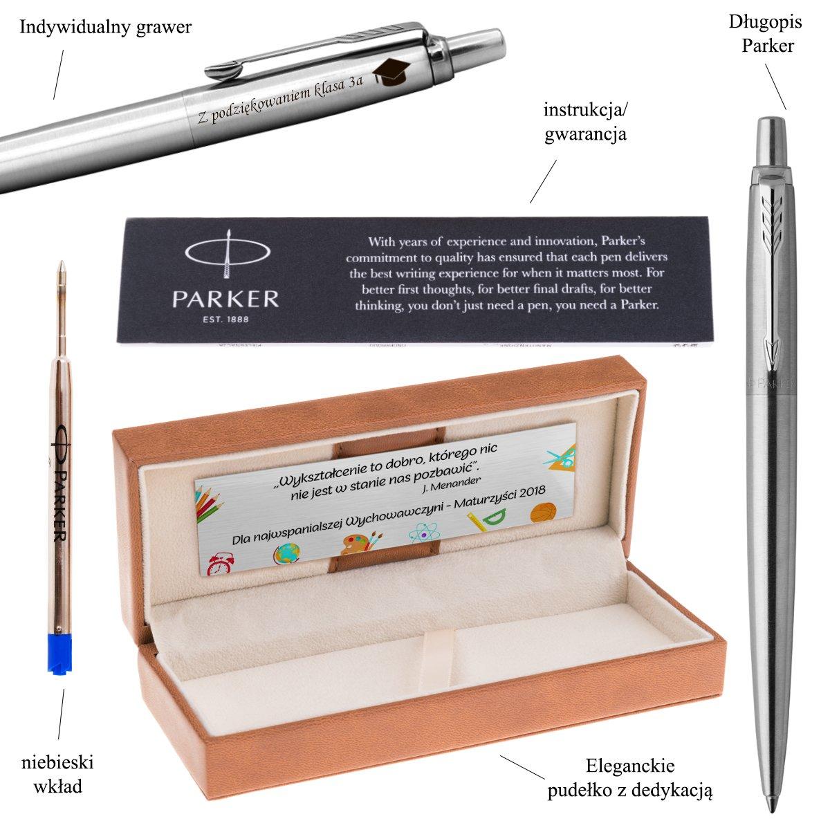 Długopis Parker Jotter stalowy CT Grawer