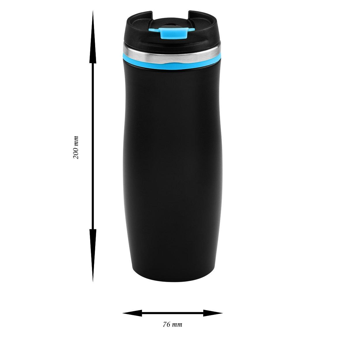 Kubek termiczny czarno-niebieski 350 ml Grawer