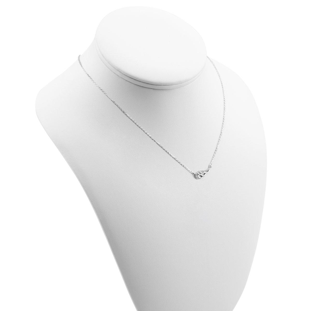 Srebrny komplet naszyjnik + bransoletka skrzydło z cyrkoniami Dedykacja