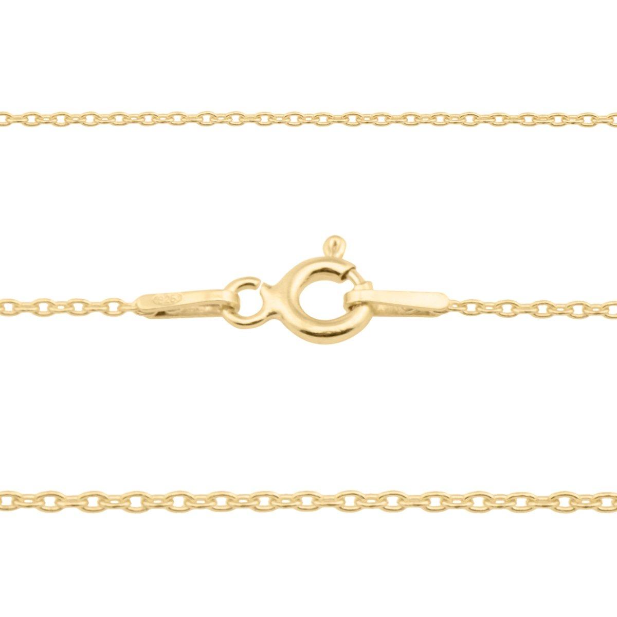 Srebrny złocony Naszyjnik pr. 925 z zawieszką serce 44,5 cm Grawer