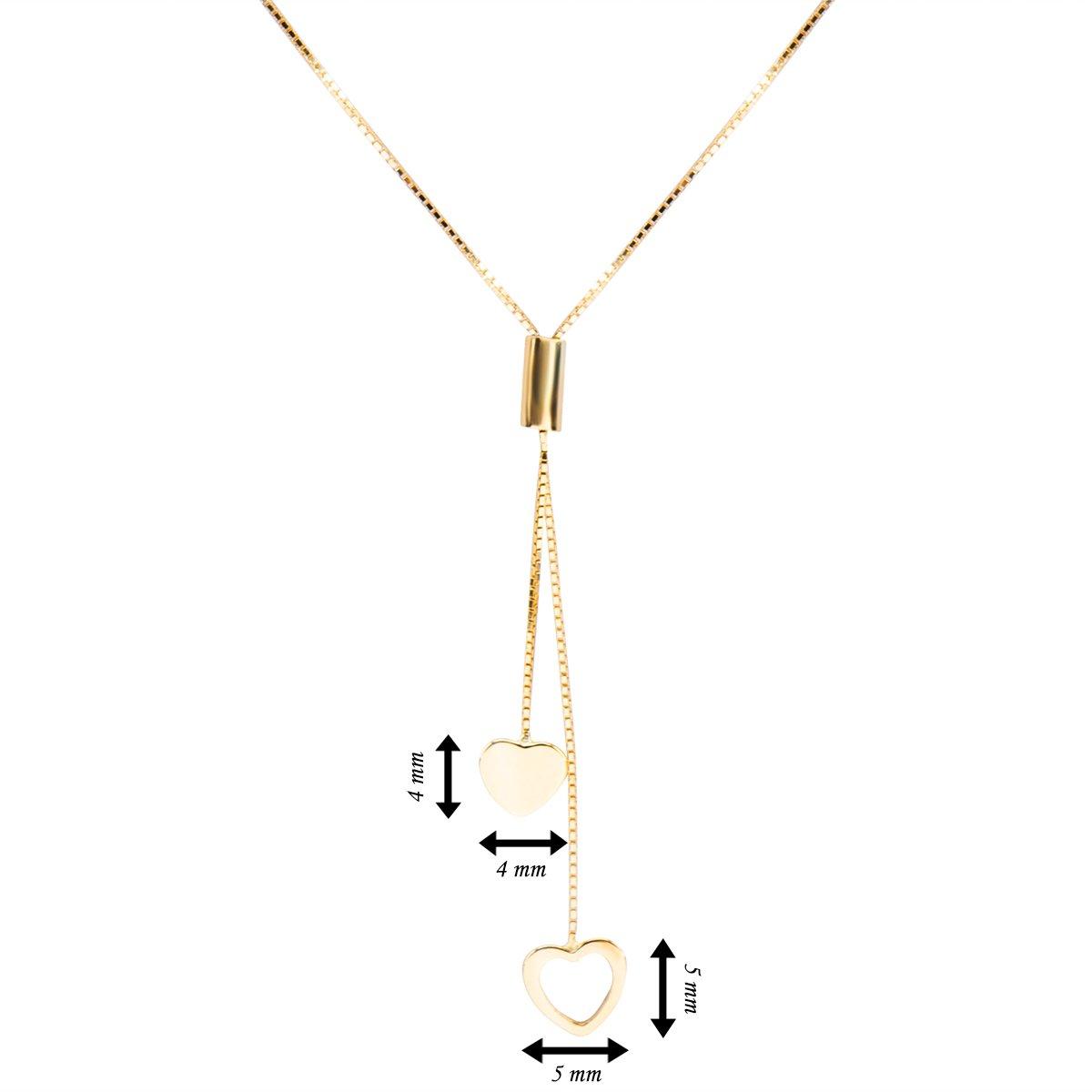 Złoty Naszyjnik złączone serduszka pr. 585 Dedykacja
