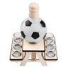 Komplet do alkoholu 7-częściowy Karafka i kieliszki piłka futbolowa z Grawerem 12