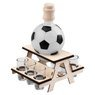 Komplet do alkoholu 7-częściowy Karafka i kieliszki piłka futbolowa z Grawerem 3