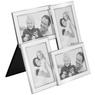 Posrebrzana Ramka na 4 zdjęcia chrzest, komunia, ślub, urodziny GRAWER  5