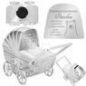 Skarbonka dla dziecka wózek - prezent na Chrzest, Baby Shower, Roczek   z Grawerem 2