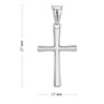 Srebrny krzyżyk / dla kobiety / mężczyzny / pr. 925 2