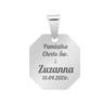 Srebrny medalik - Matka Boska z Dzieciątkiem / na Chrzest Św./ I Komunię Św./ GRAWER | pr. 925 4