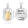 Srebrny medalik z Matką Boską, pozłacaną Dedykacja 3