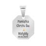 Srebrny medalik z Matką Boską, pozłacaną Grawer 3