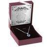 Srebrny wisiorek z łańcuszkiem pr. 925 serce z szafirową cyrkonią z Dedykacją 2