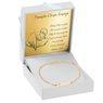 Złota dziecięca bransoletka pr.585 z serduszkiem Grawer Różowa Kokardka 8