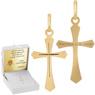 Złoty krzyżyk pr. 585 z Grawerem i Dedykacją / prezent na I Komunie Św., Chrzest Św./ w pudełku z różową kokardką 1