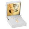 Złoty medalik z Matką Boską Częstochowską serduszko pr. 585 Chrzest Komunia Bierzmowanie GRAWER niebieska kokardka 2