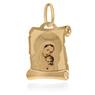 Złoty medalik z Matką Boską i Dzieciątkiem w kolorze z Grawerem / na Chrzest / I Komunię Św. / pr. 585 3