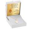 Złoty medalik z Matką Boską pr. 585 Chrzest Komunia Bierzmowanie DEDYKACJA różowa kokardka 1